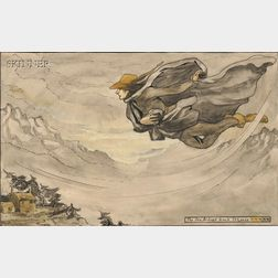 Attributed to Arthur Rackham (British, 1867-1939)      The South-west Wind Esquire