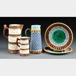 Five Wedgwood Majolica Items