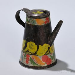 Painted Tinware Coffeepot