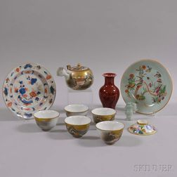 Eleven Mostly Porcelain Items