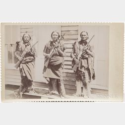 Cabinet Card Photo of Kiowa Indian Police