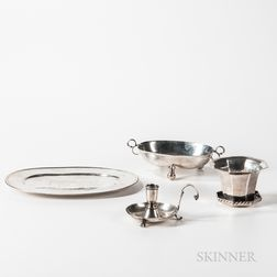 Four Pieces of Silver Tableware