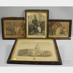 Four Framed 19th Century Lithographs and Prints