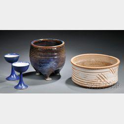 Four William Wyman Studio Pottery Items