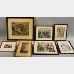 Seven Assorted Framed Works