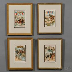 Four Color Prints of American Military Uniforms
