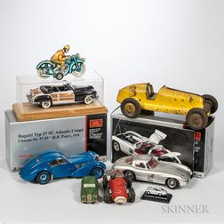 Group of Model and Toy Cars