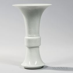White-glazed Gu   Vase