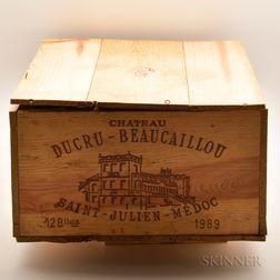 Chateau Ducru Beaucaillou 1989, 12 bottles (owc)