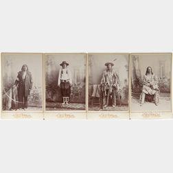 Four Cabinet Card Photos of Native American Men