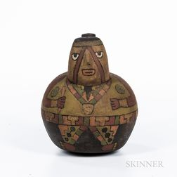 Pre-Columbian Pottery Spout Vessel