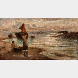 Eugene Joseph McSwiney (Irish, 1866-1936)      Girls on a Harbor Shore