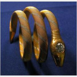 Antique Platinum, 14kt Gold and Diamond Bracelet