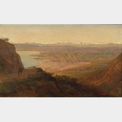 Henry A. Ferguson (American, 1845-1911)    Vina del Mar from the South, Chile