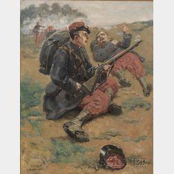 Samuel Nelson Abbott (American, 1874-1953)    Comrades in Arms.