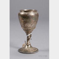 J.E. Caldwell Sterling Sailing Trophy Goblet