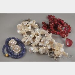 Four Gemstone and Pearl Jewelry Items