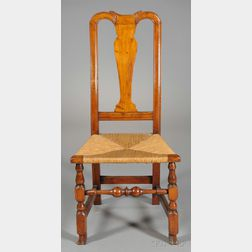 Queen Anne Carved Maple Spanish-foot Side Chair