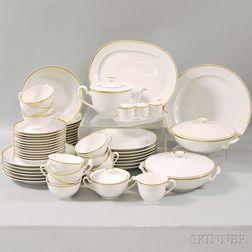 "Approximately Sixty-piece Royal Copenhagen ""Lavinia"" Gilt-rimmed Partial Porcelain   Dinner Service"