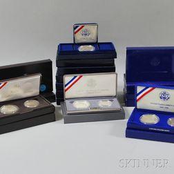 Fifteen Cased Silver Bullion Liberty Dollar and Half-dollar Coin Sets.     Estimate $300-500