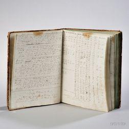 Merchant Ship's Log Book, 1830-1840