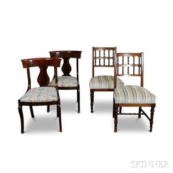 Two Pairs of Mahogany Side Chairs