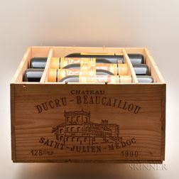 Chateau Ducru Beaucaillou 1990, 12 bottles (owc)
