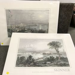 Two Colored Prints of Boston