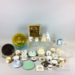 Large Group of Mostly Ceramic and Glass Commemorative Items.     Estimate $20-200