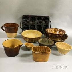 Ten Ceramic Food Molds and Bowls