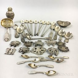 Group of Coin Silver Flatware and Tableware
