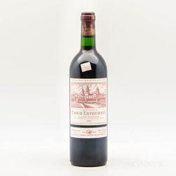 Chateau Cos dEstournel 1995, 1 bottle