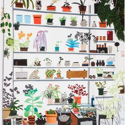 Jonas Wood (American, b. 1977)      Large Shelf Still Life   Exhibition Poster