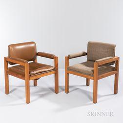 Two Warren Platner (1919-2006) Armchairs