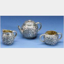 George W. Shiebler & Co. Sterling Silver Three Piece Tete-a-Tete Tea Service