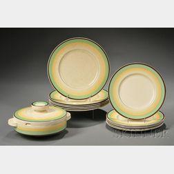 Thirteen Clarice Cliff Dinnerware Items