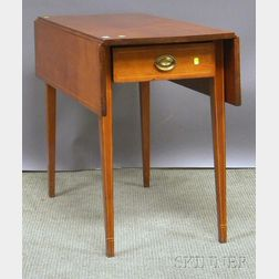 Federal Inlaid Cherry Drop-leaf Pembroke Table