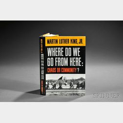 King Jr., Martin Luther (1929-1968)   Where Do We Go from Here: Chaos or Community?   Signed Copy