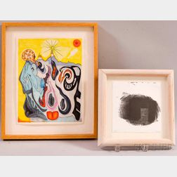 Two Framed Works on Paper    American School, 20th century