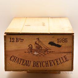 Chateau Beychevelle 1985, 12 bottles (owc)