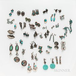 Sixty-four Pairs of Southwest Earrings