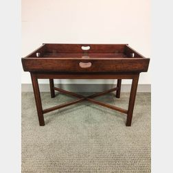 Mahogany Butler's Tray on Later Stand