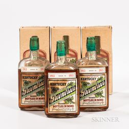 Kentucky Greenbrier 11 Years Old 1913, 3 pint bottles (oc) Spirits cannot be shipped. Please see http://bit.ly/sk-spirits for more i...