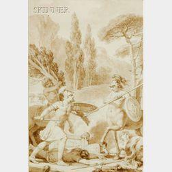 Jean Jacques François le Barbier (French, 1738-1826)      Battle of the Centaurs
