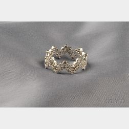 Pair of Platinum and Diamond Bands, Cathy Waterman