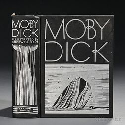 Melville, Herman (1819-1891) Moby Dick  , Illustrated and Inscribed by Rockwell Kent (1882-1971).