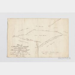 Thoreau, Henry David (1817-1862) Plan of a Woodlot in Lincoln and Concord Mass., Conveyed by Willard T. Farrar to Geo. Heywood, April 3