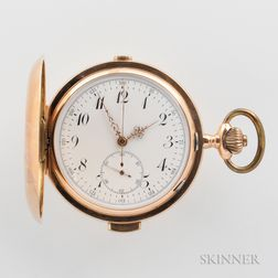 14kt Gold Minute-repeating Chronograph Hunter Case Watch