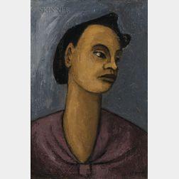 Walter Sanford (American, 1912-1987)      Woman in Violet