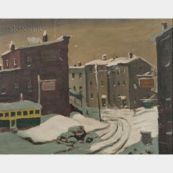 Henry Martin Gasser (American, 1909-1981)      City in Snow